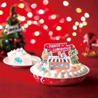 ブルーシールクリスマスアイスケーキ(送料別)