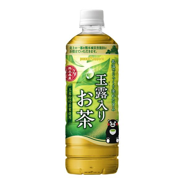 【24本】玉露入りお茶 熊本城復旧応援ラベル(600ml)