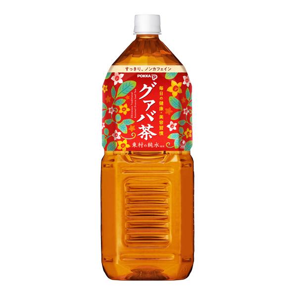【6本】ポッカグァバ茶 沖縄(2L)