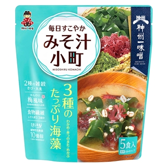 【小分け1袋】毎日すこやか みそ汁小町 海藻 5食  3種のたっぷり海藻