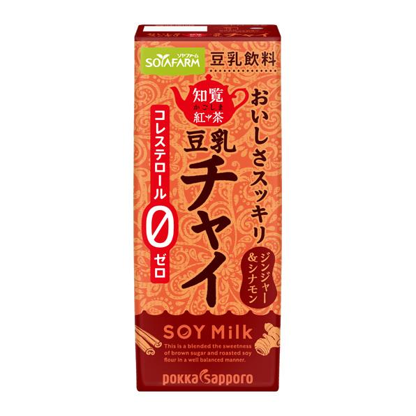 ◆クール便◆【24本】ソヤファームおいしさスッキリ 知覧チャイ豆乳飲料(200ml)