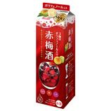 3種の贅沢 ポリフェノール 赤梅酒【1本】1800ml(送料込)