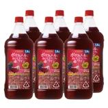 ポリフェノールでおいしさアップの赤ワイン1.8Lペットボトル 1800ml【6本】(送料込)