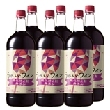 うれしいワイン 酸化防止剤無添加〈赤〉1.5Lペットボトル 1500ml【6本】(送料込)