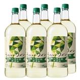 うれしいワイン 酸化防止剤無添加〈白〉1.5Lペットボトル 1500ml【6本】(送料込)